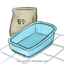 貓砂和貓砂盆