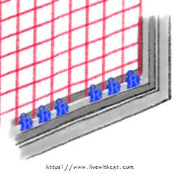 窗戶防護_固定在內側軌道內