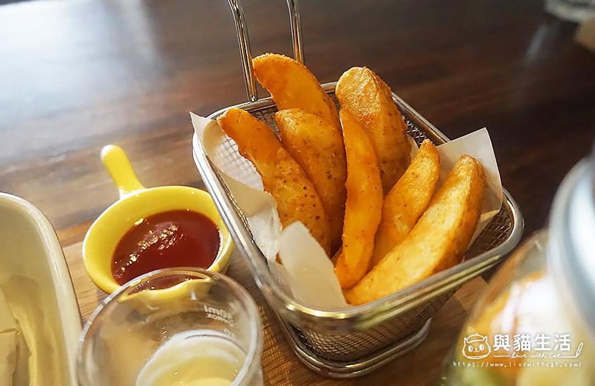 義式香草紙包雞腿套餐-薯條