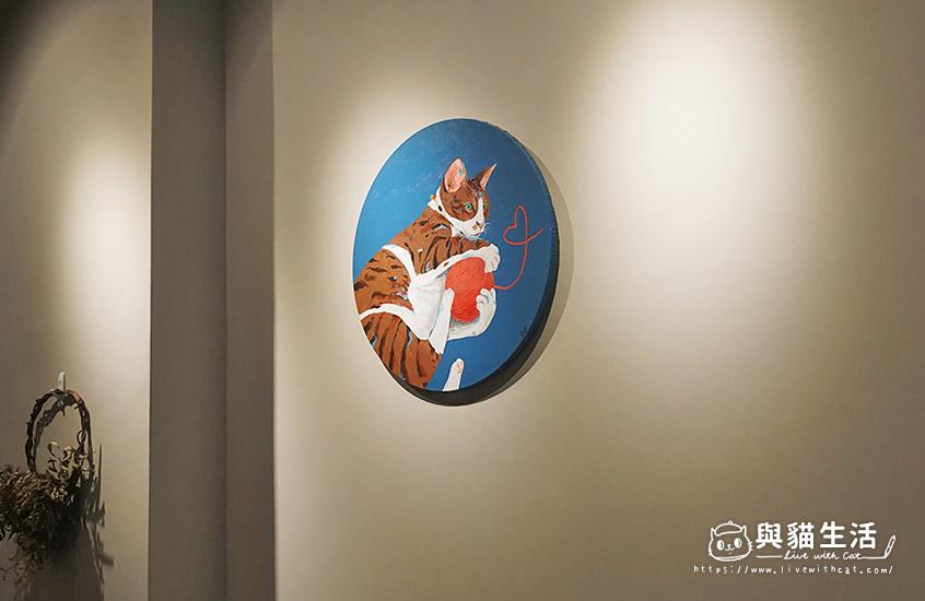 貓手繪掛畫